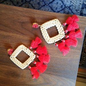Jewelry - 🎉NEW Big trendy rattan style earrings